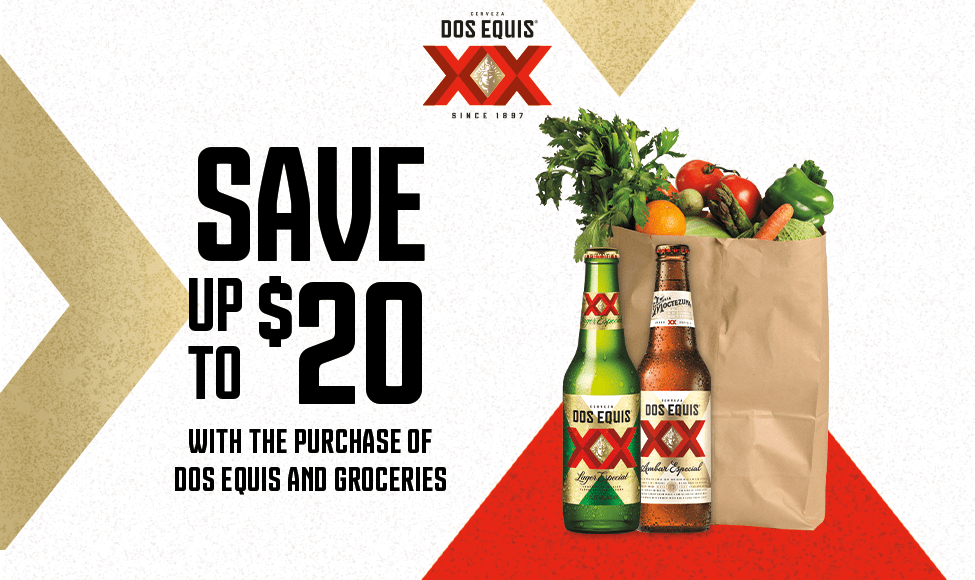 VIEW ON MOBILE ONLY - None - Save up to $20 with purchase of ONE (1) 12pk or 5L of XX and groceries ($60 min spend)